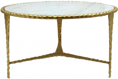 Radnor Coffee Table - White Marble Effect and Gold