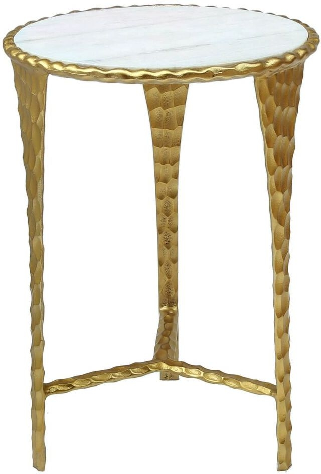 Buy Radnor White Marble Effect And Gold End Table Online Cfs Uk