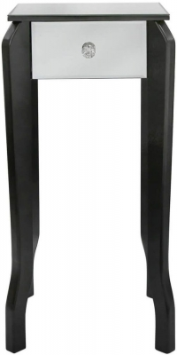Ribera Mirrored Black Trim Lamp Table