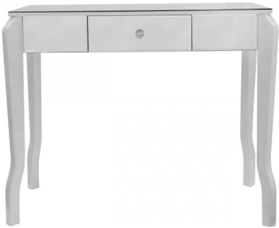 Ribera Mirrored White Trim Console Table