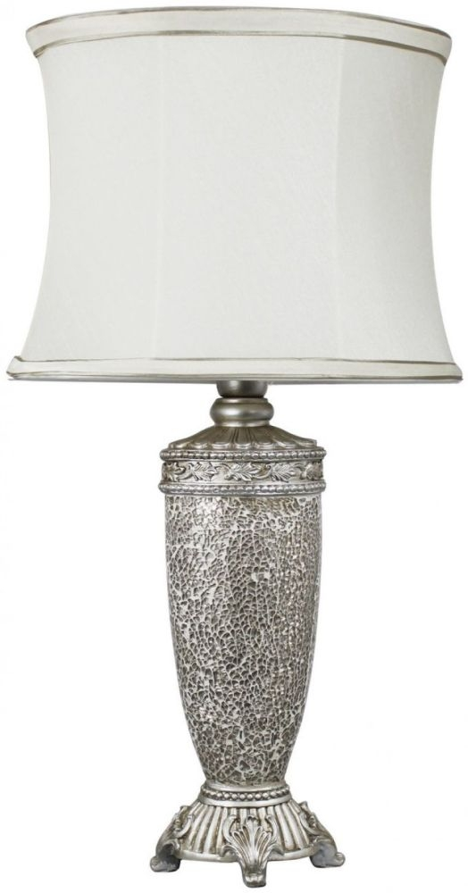 Rogue Champagne Sparkle Mosaic Antique Silver Lamp With