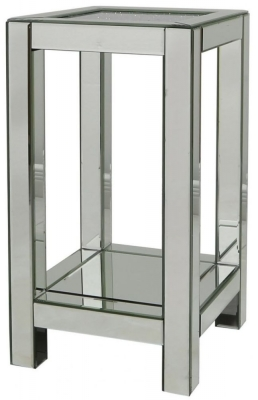 Sassari Mirrored End Table
