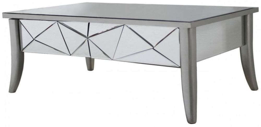 Sassari Mirrored Glacier Coffee Table