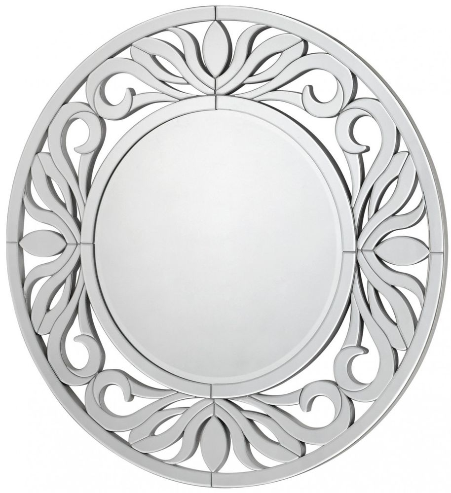 Sicula Wall Mirror with Silver Trim (118cm)