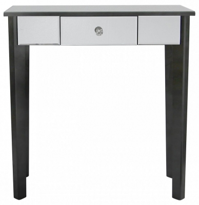 Siena Mirrored Black Trim Console Table