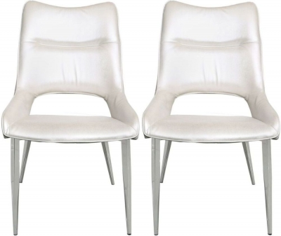 Adams White Velvet Dining Chair (Set of 4)