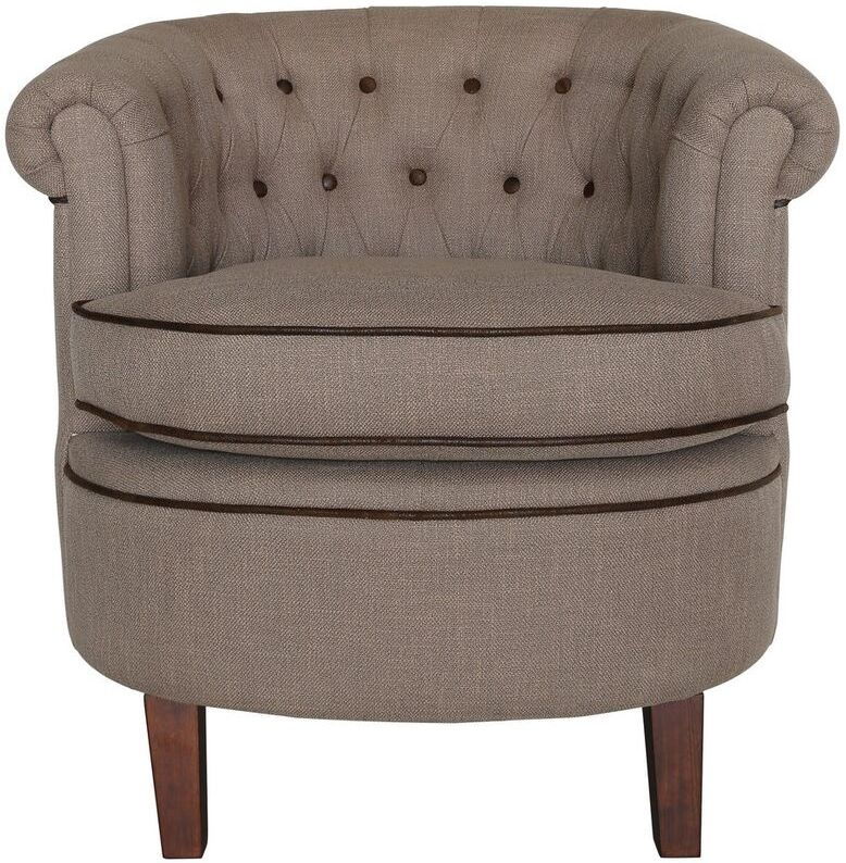 Lily Coffee Fabric Occasional Chair