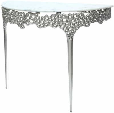 Somerset Marble Effect Console Table