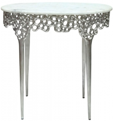 Somerset Marble Effect End Table