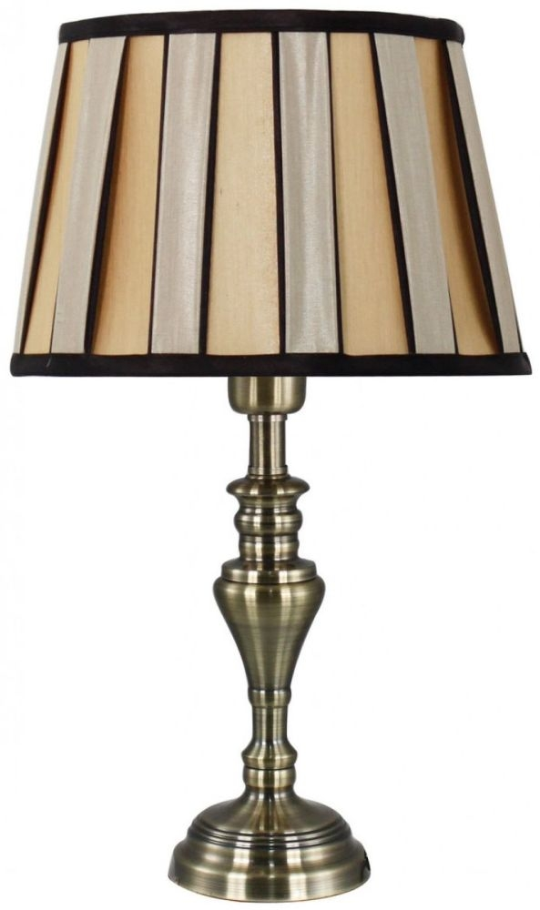 Springfield Antique Brass Table Lamp With Bronze And Black