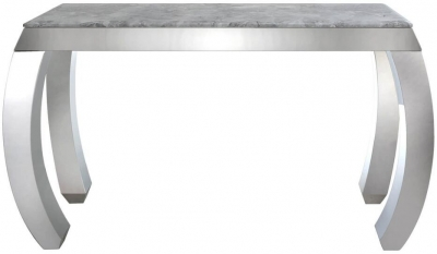Swish Console Table - Marble Effect and Chrome