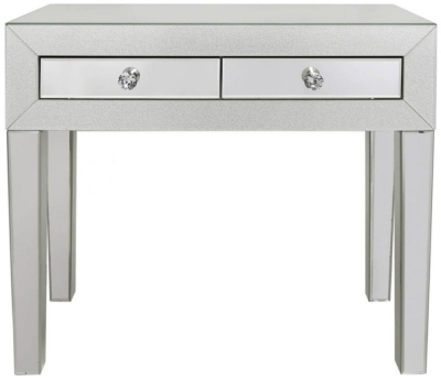 Tirana Champagne Sparkle Mirrored Console Table