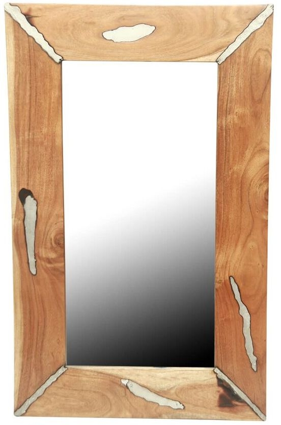Valley Acacia Wood Rectangular Wall Mirror - 76cm x 122cm