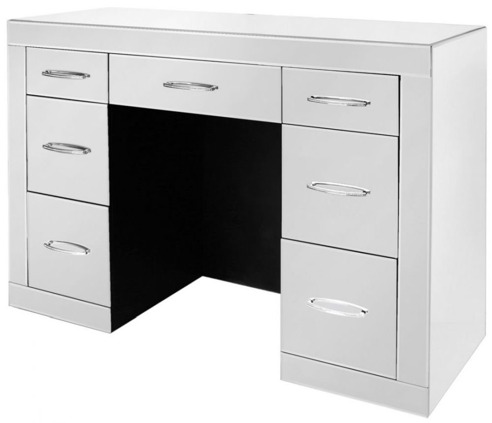 Buy Ville Clear Mirrored 7 Drawer Dressing Table - (Set of 2) Online ...