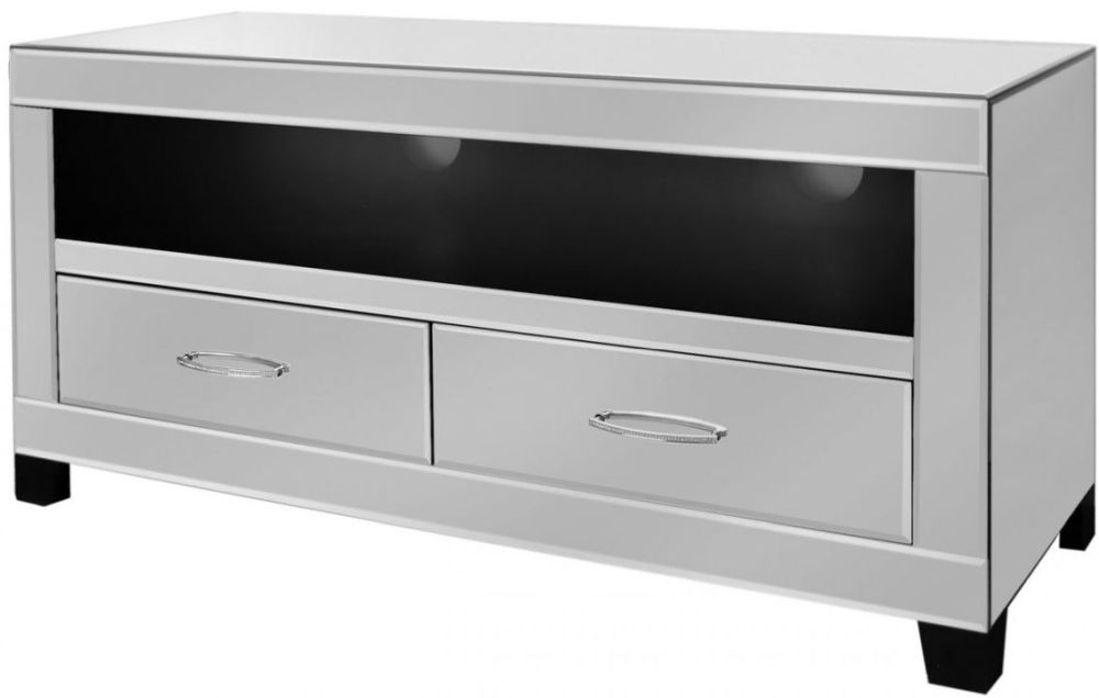 Ville Clear Mirrored Entertainment Unit