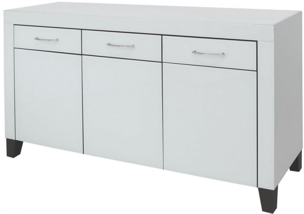 Ville Clear Mirrored Sideboard - 3 Door 3 Drawer