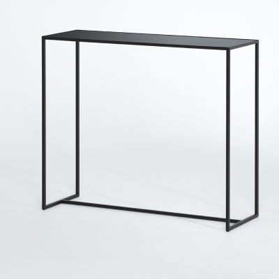 Deknudt Mesa Black Console Table