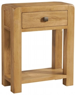 Avon Oak 1 Drawer Small Console Table