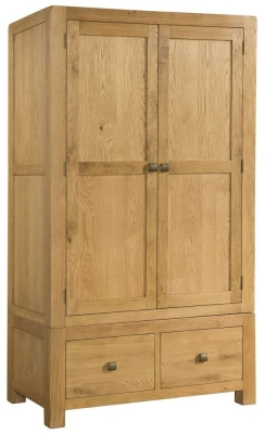 Avon Oak 2 Door Double Wardrobe