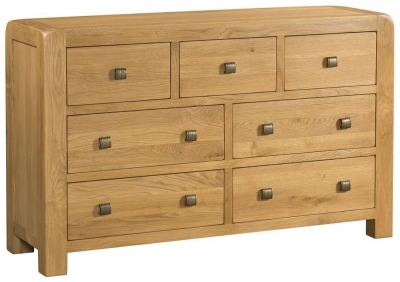 Avon Oak 3 Over 4 Drawer Chest
