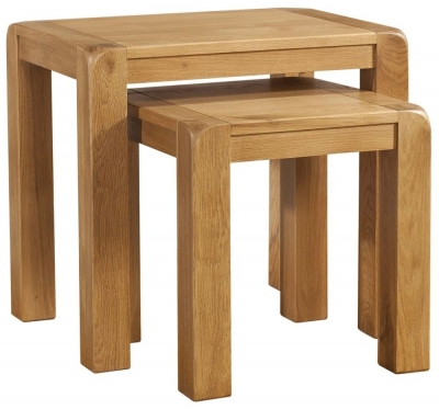 Avon Oak Nest of 2 Tables