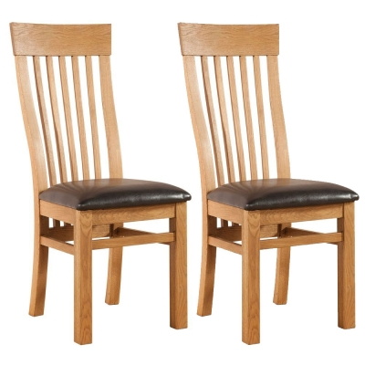 Devonshire Avon Oak Dining Chair - Curved Back (Pair)