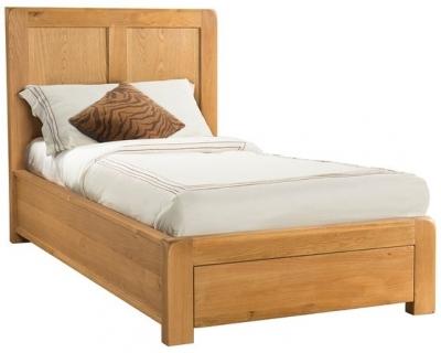 Devonshire Avon Oak Bed - 3ft Single with 1 Storage Drawer