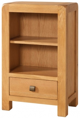 Devonshire Avon Oak Bookcase - 1 Drawer