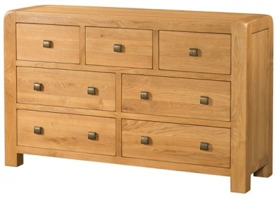 Devonshire Avon Oak Chest of Drawer - 3+4 Drawer