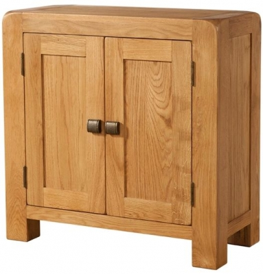 Devonshire Avon Oak Display Cabinet - 2 Door