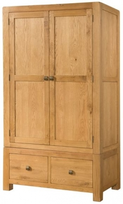 Devonshire Avon Oak Wardrobe - Double 2 Drawer
