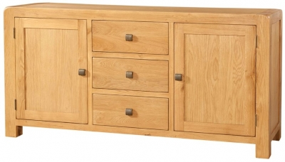 Devonshire Avon Oak Sideboard - Large 2 Door 3 Drawer