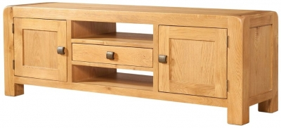 Devonshire Avon Oak TV Unit - Wide