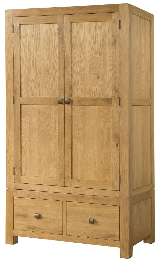 Devonshire Avon Oak 2 Door 2 Drawer Double Wardrobe