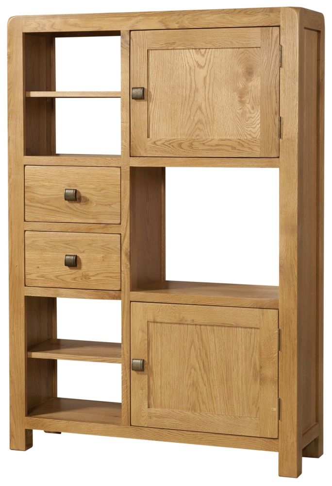Devonshire Avon Oak High Display Cabinet