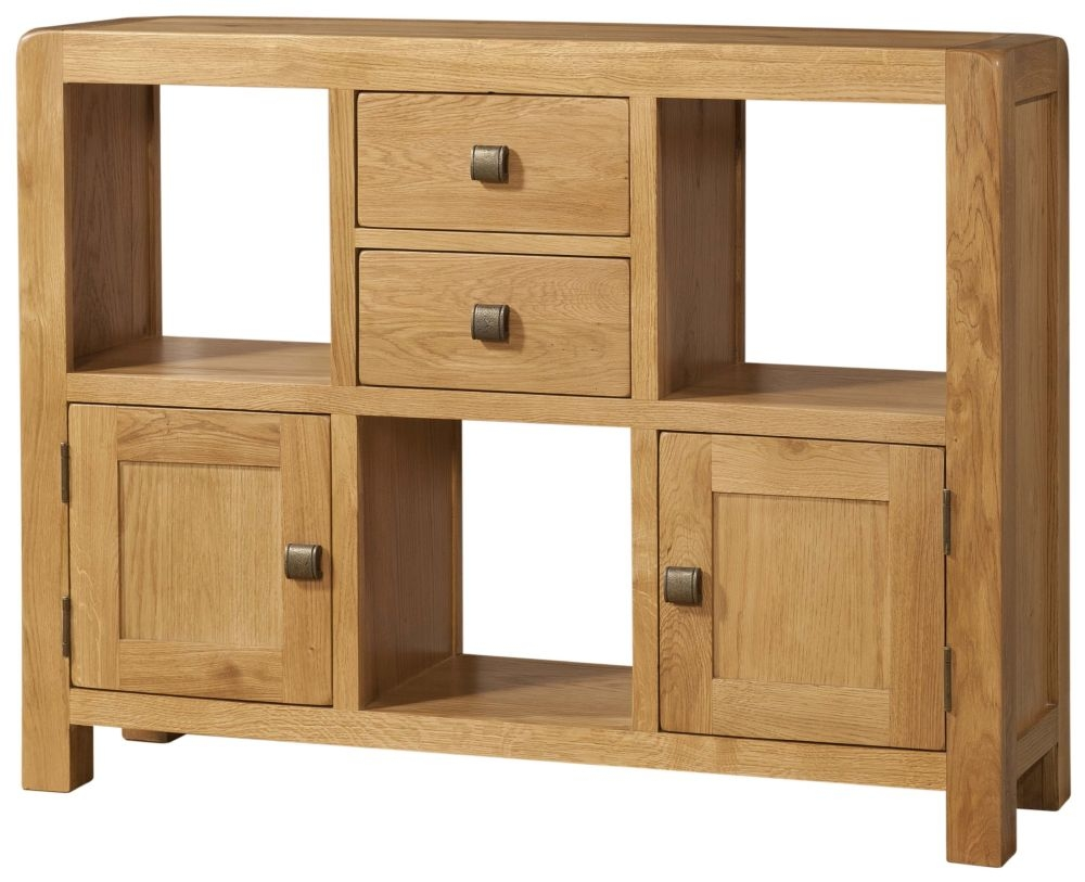 Devonshire Avon Oak Low Display Cabinet