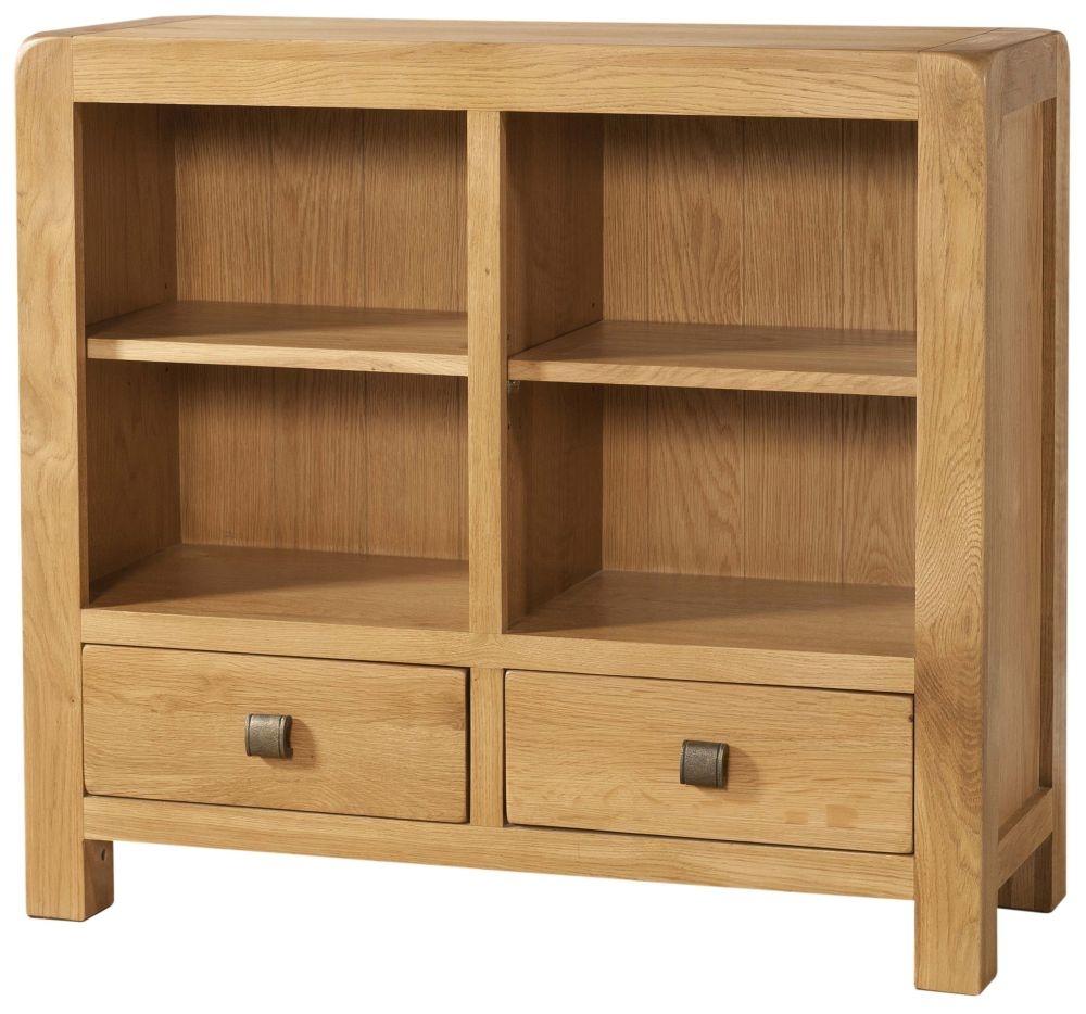 Devonshire Avon Oak 2 Drawer Bookcase