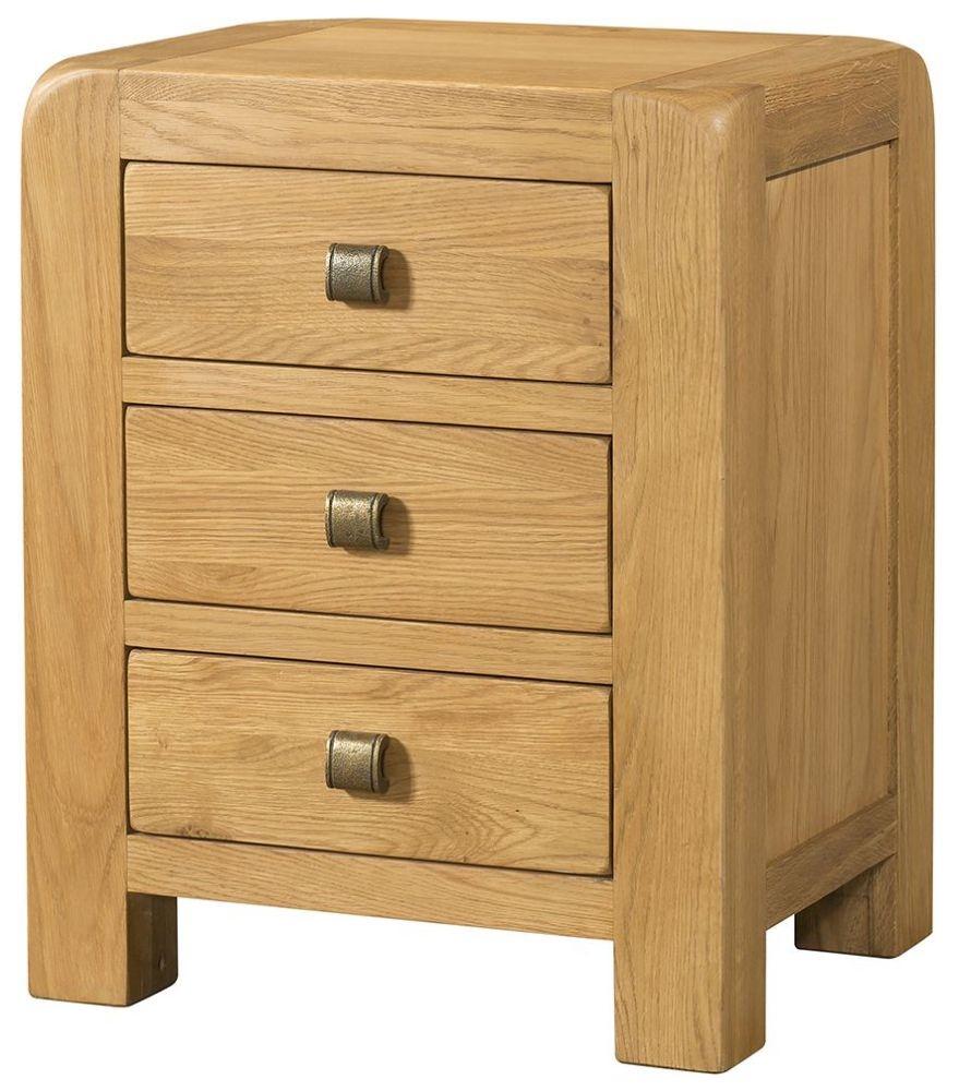 Devonshire Avon Oak Bedside Cabinet