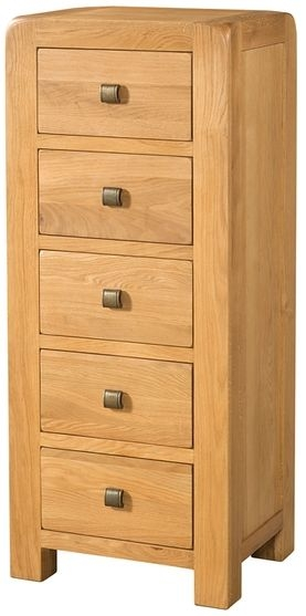 Devonshire Avon Oak 5 Drawer Tall Chest