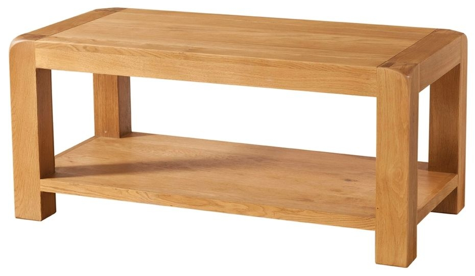 buy devonshire avon oak coffee table with shelf online. Black Bedroom Furniture Sets. Home Design Ideas