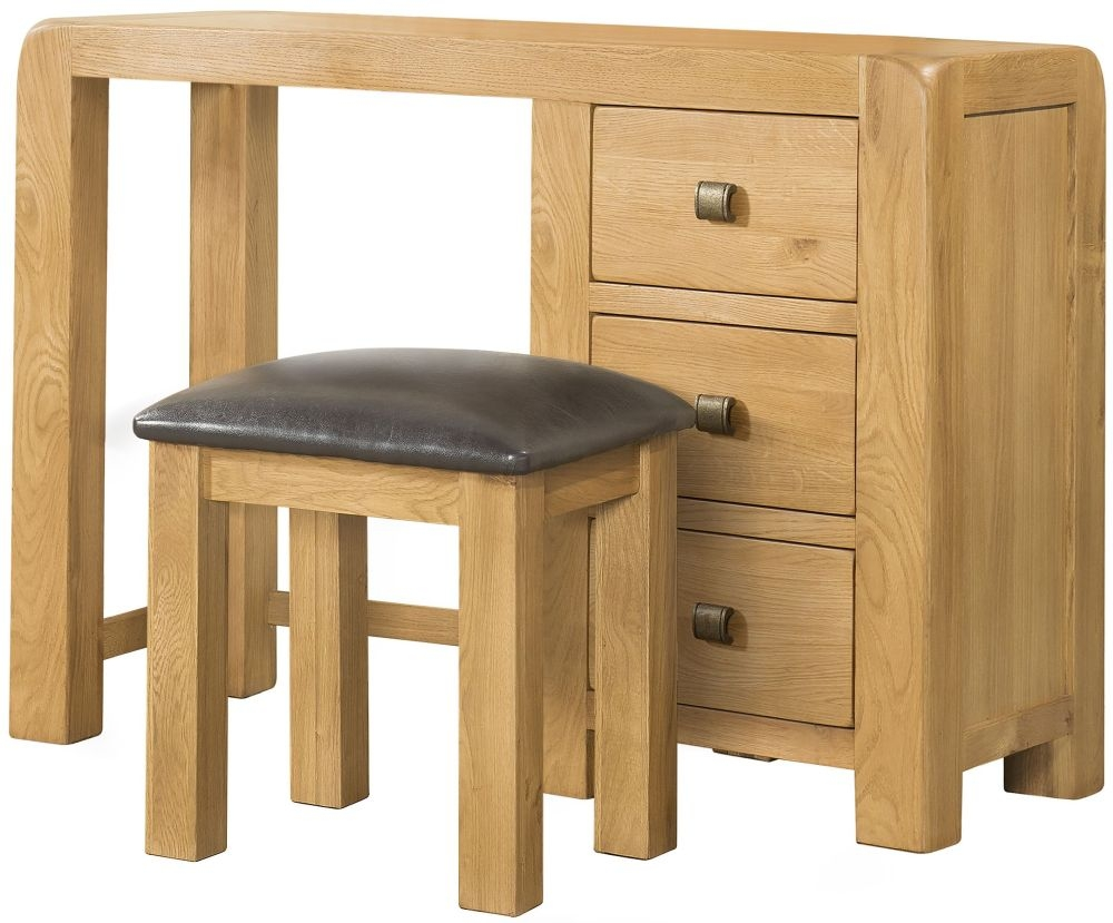 Devonshire Avon Oak Dressing Table and Stool