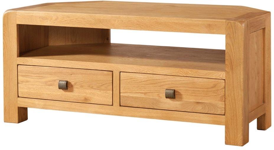 Devonshire Avon Oak 2 Drawer Corner TV Unit