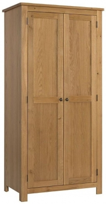 Burford Oak 2 Door Hanging Wardrobe