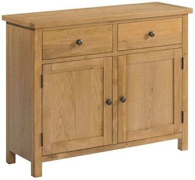 Burford Oak 2 Door Small Sideboard
