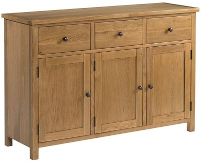 Burford Oak 3 Door Large Sideboard