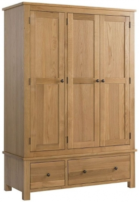 Burford Oak 3 Door Triple Wardrobe
