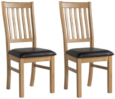 Burford Oak Slatted Dining Chair (Pair)