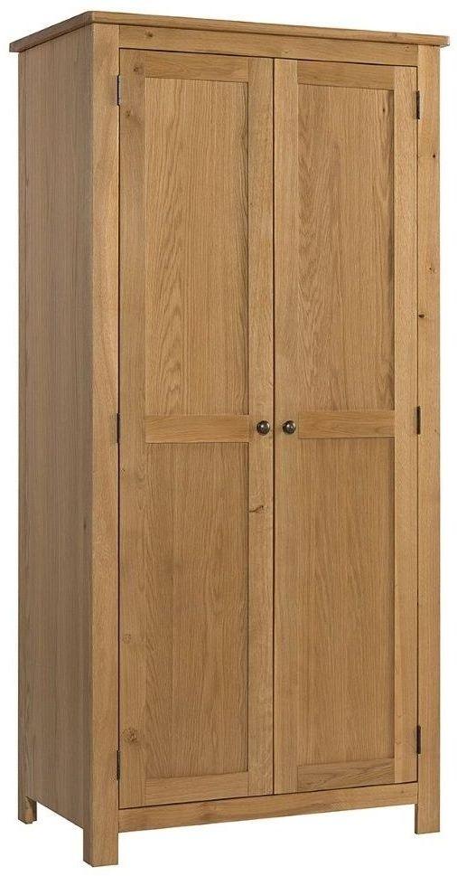 Burford Oak 2 Door Hanging Wardrobe