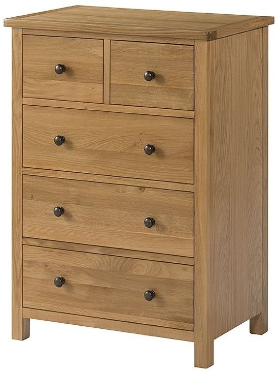 Devonshire Burford Oak 3+2 Drawer Chest