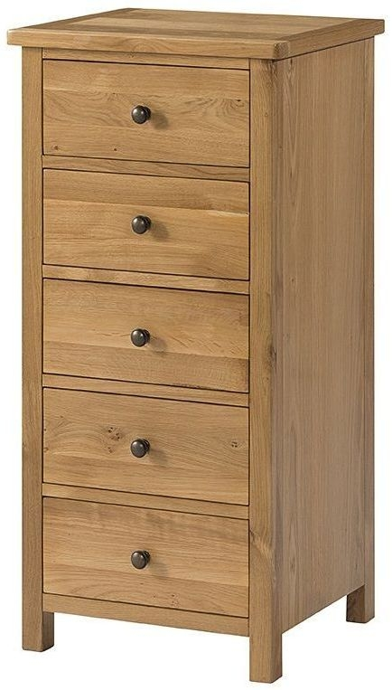 Devonshire Burford Oak Chest of Drawer - Tall 5 Drawer